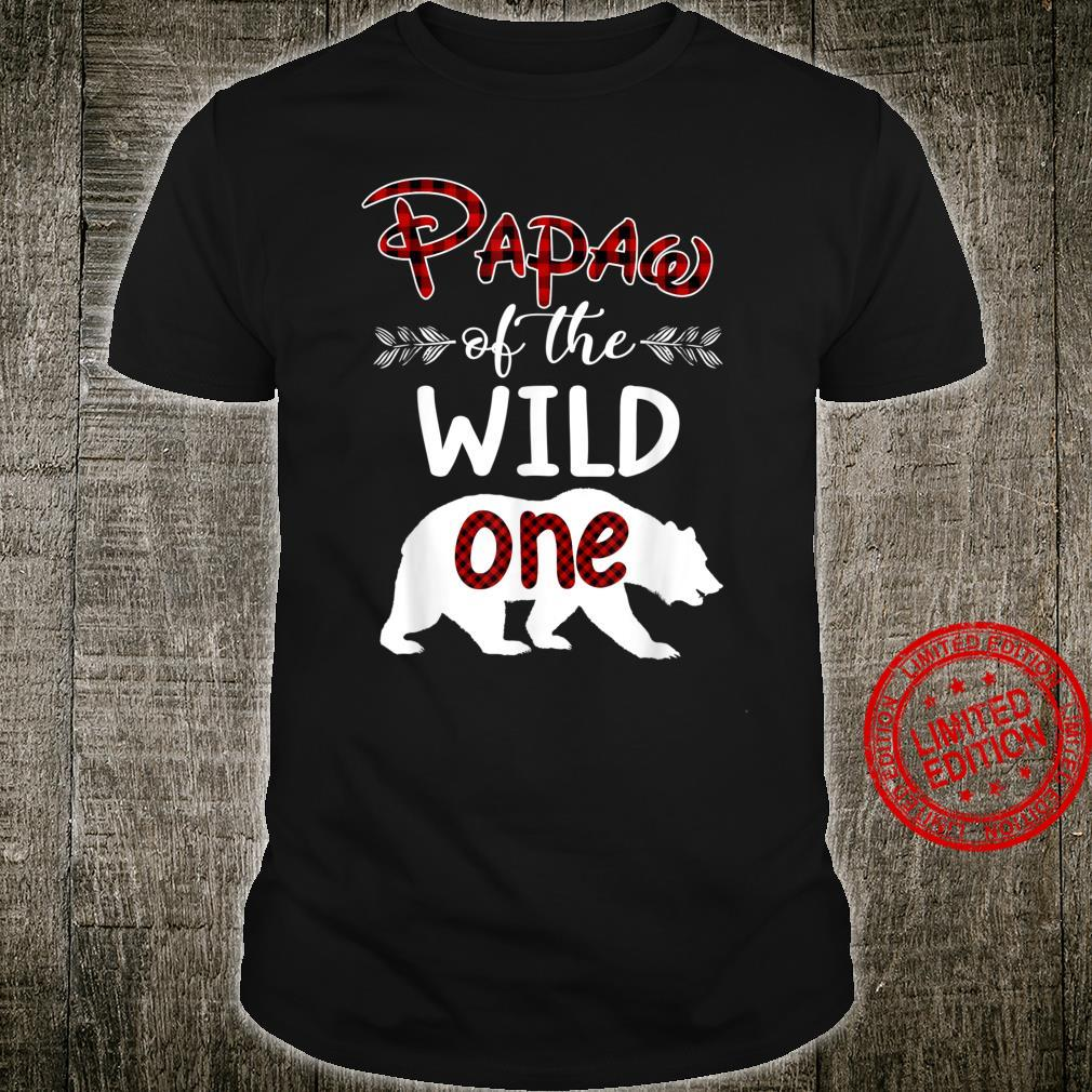 Papaw Bear Of The Wild One Red Plaid Shirt