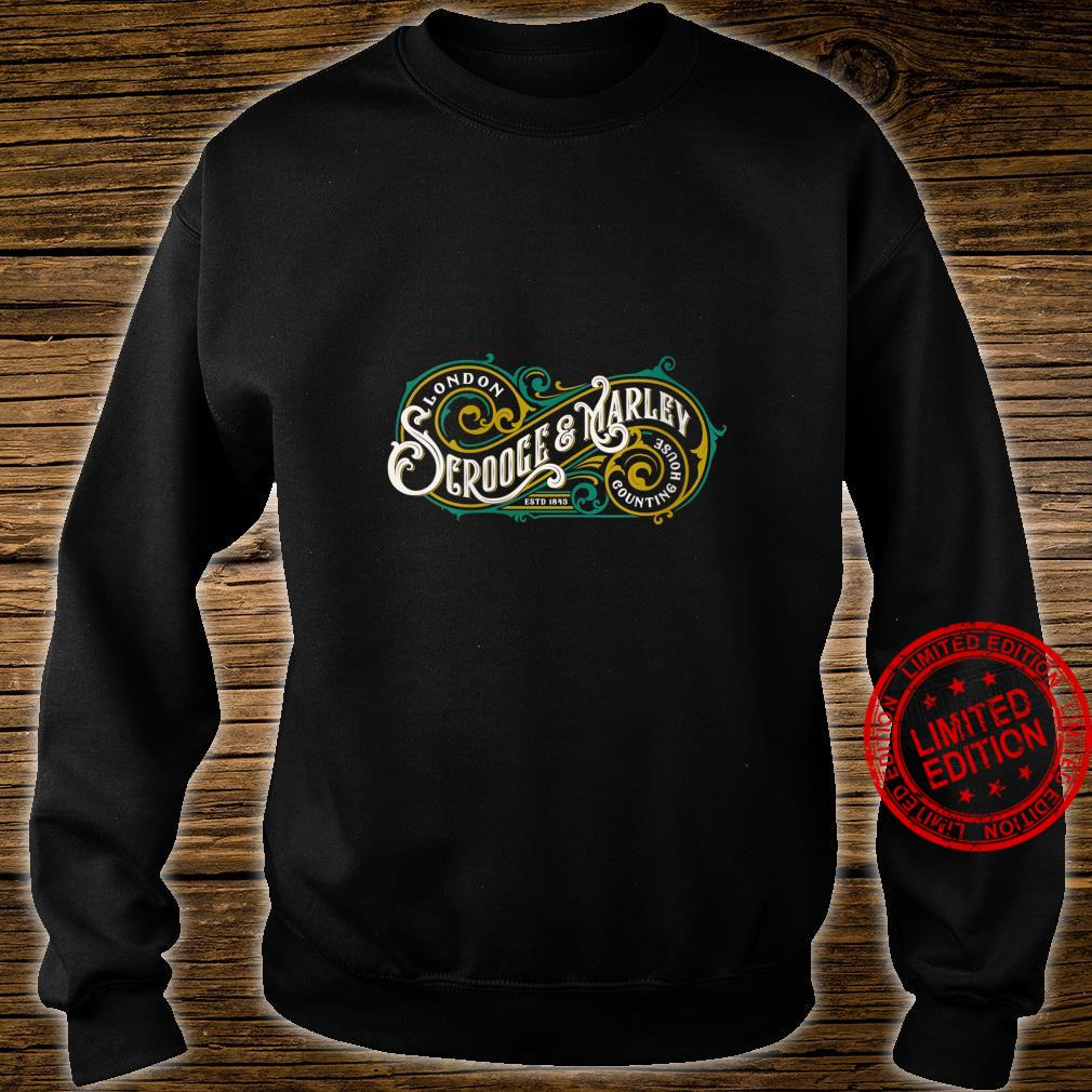 Womens Scrooge and Marley Counting House Christmas Carol Vintage Shirt sweater