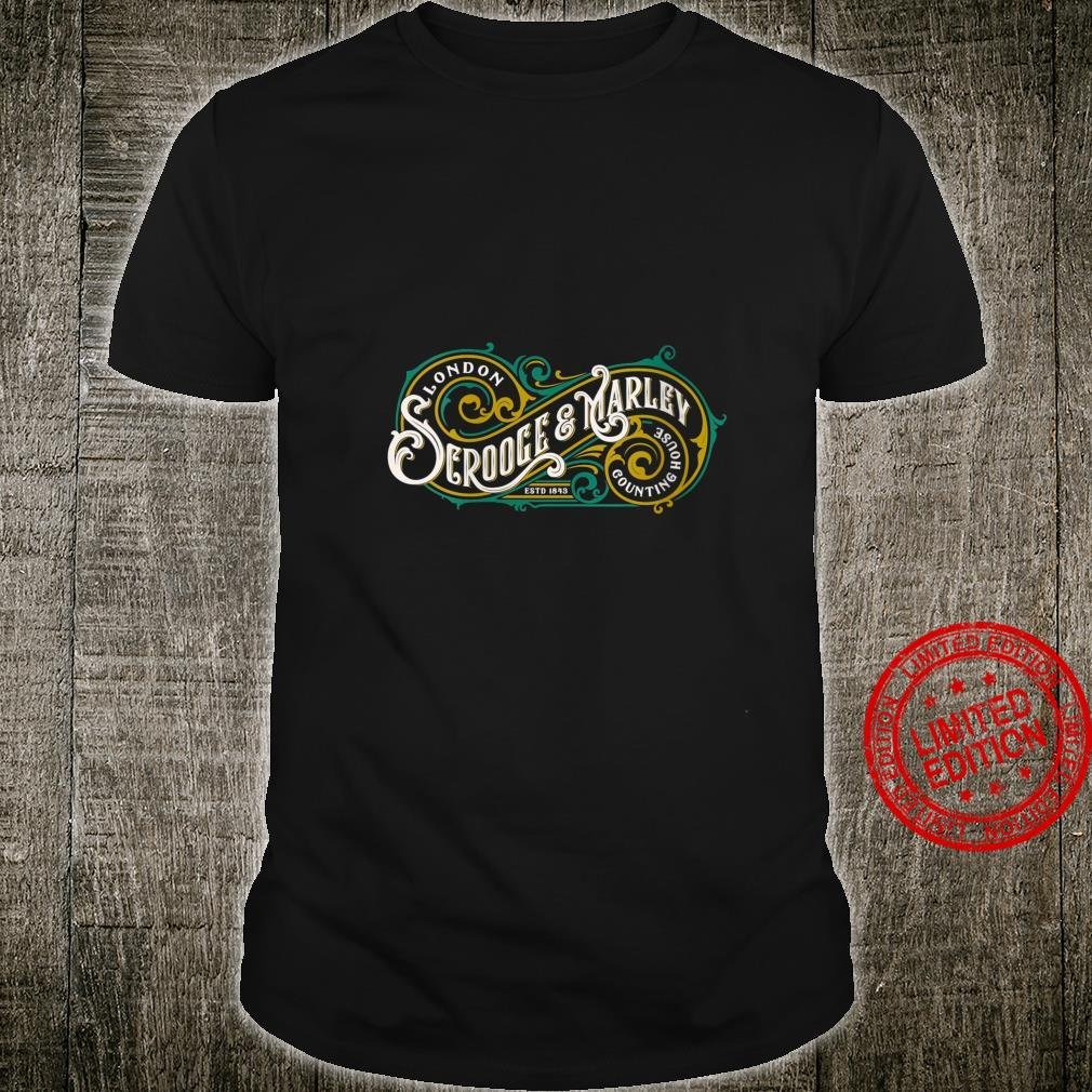 Womens Scrooge and Marley Counting House Christmas Carol Vintage Shirt